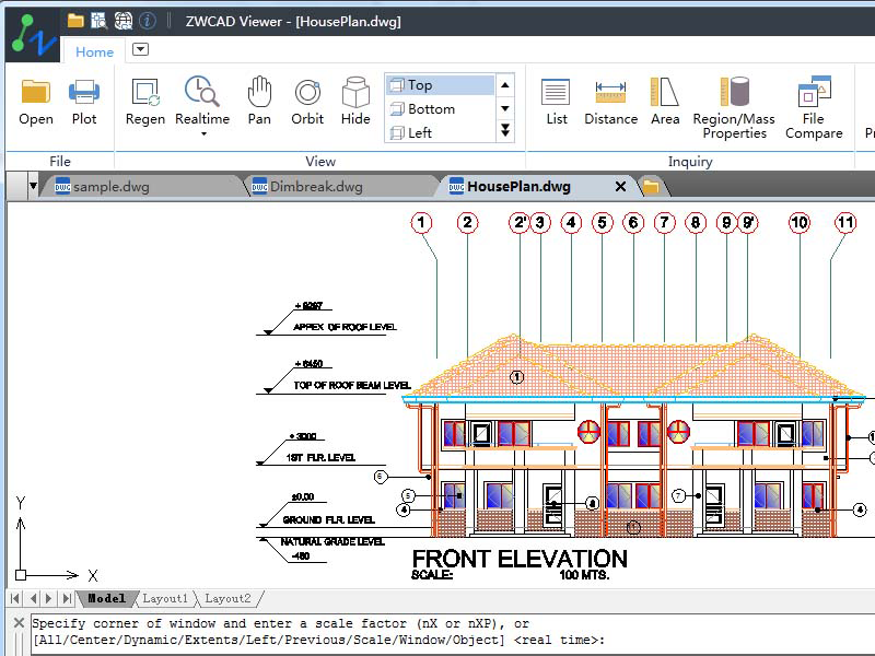 ZWCAD Viewer view and plot DWG files for free